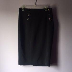 H&M navy blue pencil skirt